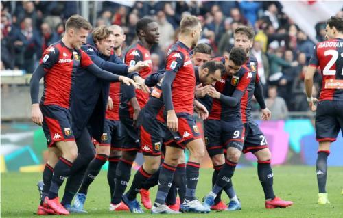 Skuad Genoa siap berjuang keras melawan Juventus (Foto: Genoa CFC)