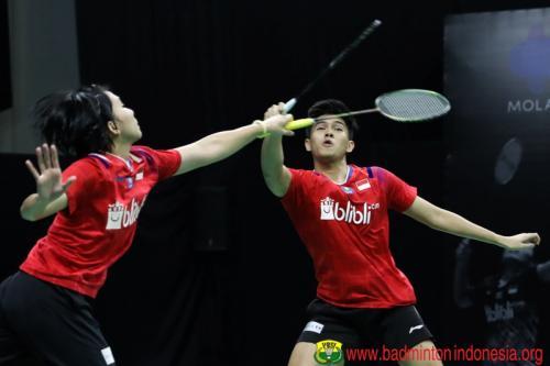 Aksi Adnan/Mychelle di Home Tournament