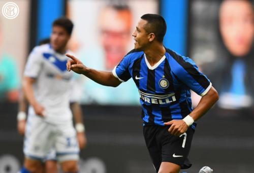 Alexis Sanchez saat bela Inter Milan