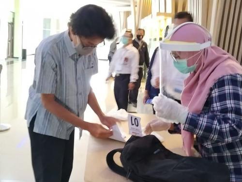 Peserta UTBK di Unbraw wajib patuhi protokol kesehatan (Foto : Okezone.com/Avirista)