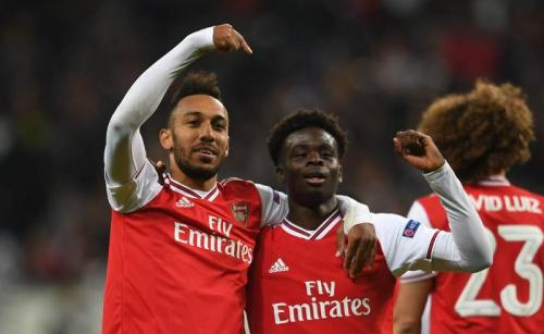 Suasana laga Arsenal vs Leicester