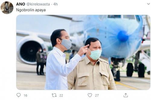 Presiden Jokowi dan Prabowo