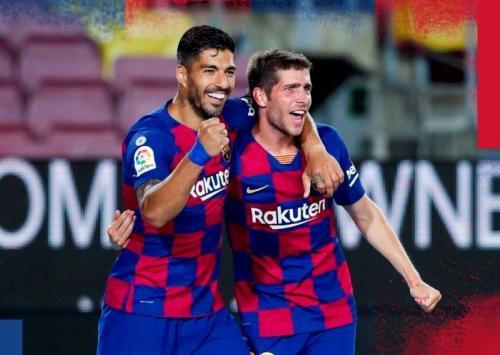 Sergi Roberto dan Luis Suarez