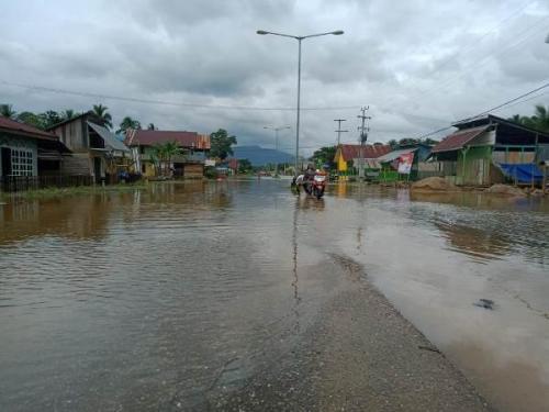 Banjir di Konawe Utara. (BNPB)