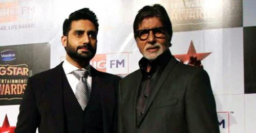 Amitabh dan Abhishek Bachchan.