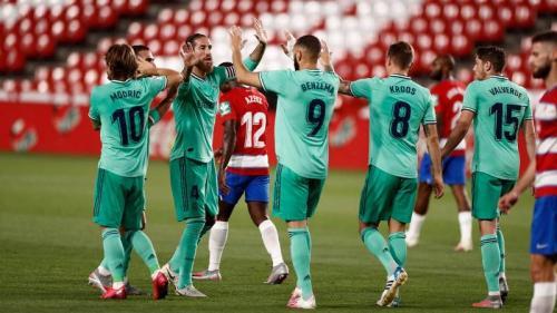 Suasana laga Granada vs Real Madrid