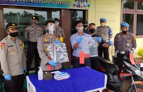 Kapolres Musi Rawas, AKBP Efrannedy, rilis penangkapan begal (era neizma)