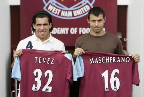 Carlos Tevez dan Javier Mascherano