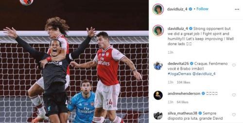 David Luiz mengunggah foto lucu di IG (Foto: Instagram/@davidluiz_4)