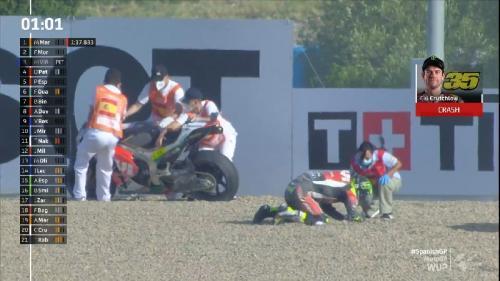 Kecelakaan Crutchlow di MotoGP Spanyol 2020
