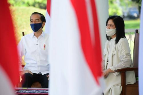 Presiden Jokowi dan Iriana