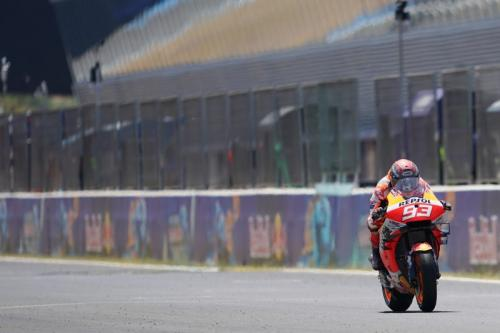 Marc Marquez melaju di Sirkuit Jerez (Foto: Honda Racing Corporation)