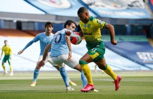 Suasana laga Man City vs Norwich