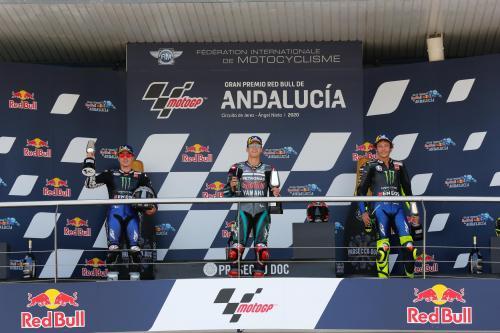 Podium MotoGP Andalusia 2020