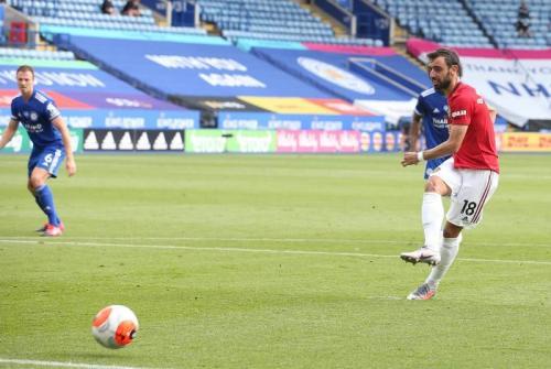 Aksi Bruno Fernandes saat membela Man United