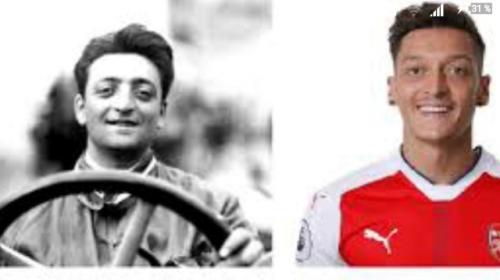 Enzo Ferrari mirip Mesut Ozil