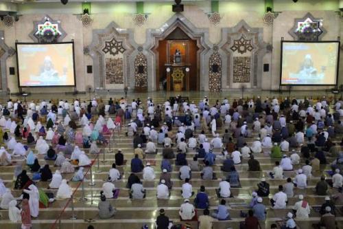 Sholat Idul Adha 1441H di Masjid JIC, Koja, Jakarta Utara. (Foto: Masjid JIC)