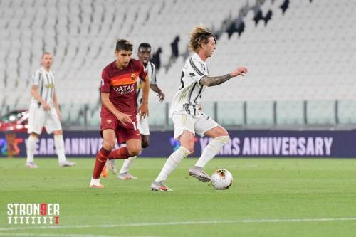 Suasana laga Juventus vs Roma