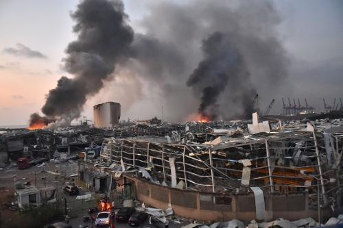 Ledakan di Lebanon (Foto: Twitter/@Tommynival)