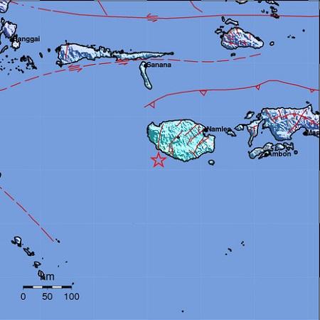 Gempa Pulau Buru. (Ist)