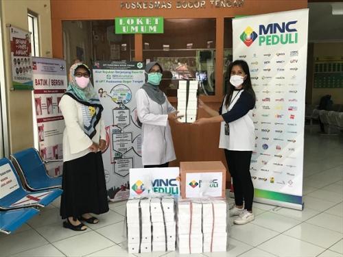MNC Peduli Salurkan Masker Kain dan Makanan kepada Puskesmas Bogor Tengah dan Puskesmas Sempur Bogor. (Ist)