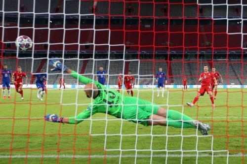 Suasana laga Bayern vs Chelsea. Twitter Bayern