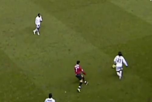 Cristiano Ronaldo mengejar Andrea Pirlo (Foto: Twitter/@ChampionsLeague)
