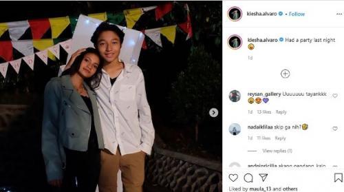 Kiesha Alvaro dengan sang pacar