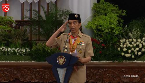 Jokowi Hari Pramuka