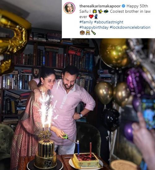 Kareena Kapoor rayakan ultah sang suami.