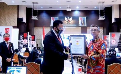 Upacara Virtual HUT Ke-75 RI di Istana Pecahkan Rekor Dunia (sindonews)