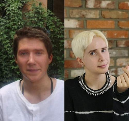 wajah asli Oli (kiri)