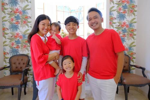 Ruben Onsu dan keluarganya.