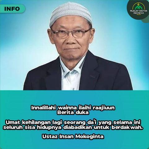 Ustadz Insan Mokoginta meninggal dunia. (Foto: Instagram Mualaf Center Indonesia)