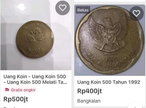 Koin 500 melati (Bukalapak)