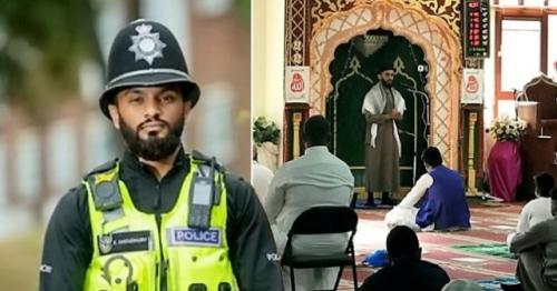 PC Emad Choudhury jadi imam masjid sekaligus polisi di Birmingham Inggris. (Foto: WMP/SWNS/Metro.co.uk)