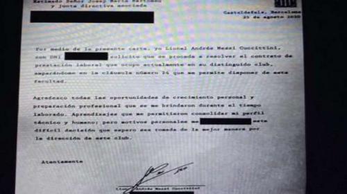 Bocoran faks yang dikirim Lionel Messi