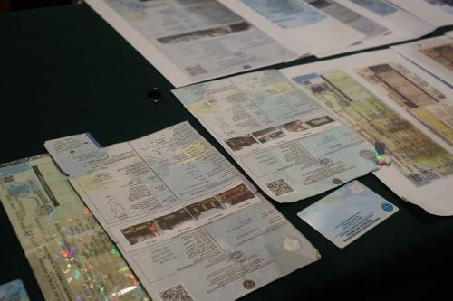 Pemalsuan dokumen uji berkala kendaraan. (Okezone/Avirista Midaada)