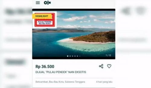 Heboh Pulau Pendek di Buton Dijual via Situs Online Viral di Medsos :  Okezone News