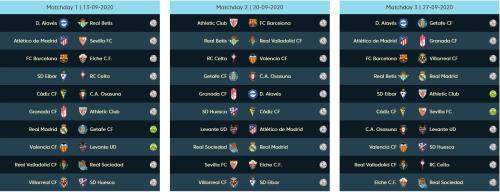 Jadwal La Liga Spanyol pekan pertama