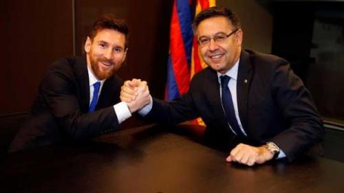 Lionel Messi menuding Josep Maria Bartomeu ingkar janji