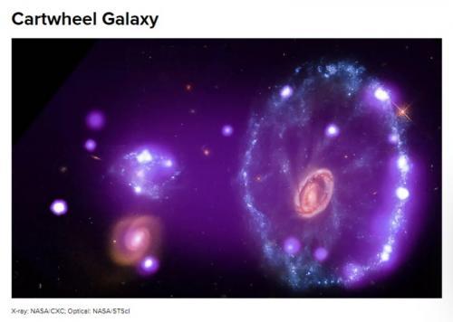 Galaxy Cartweel. (Foto: NASA / Cnet)
