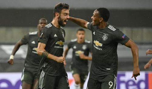Bruno Fernandes dan Anthony Martial