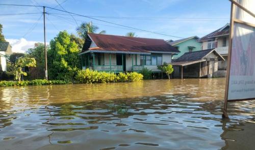 Banjir rendam Kapuas Hulu, Kalbar. (Foto : BNPB)