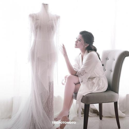 Audi Marissa menikah. (Foto: Jakarta Wedding Photographer/Instagram/@thepotomoto)