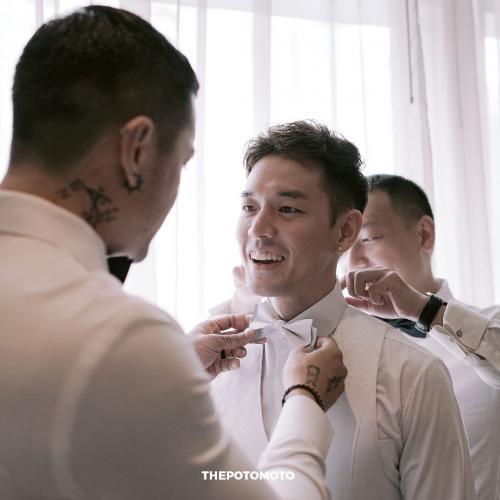 Anthony Xie resmi menikahi aktris Audi Marissa. (Foto: Jakarta Wedding Photographer/Instagram/@thepotomoto)
