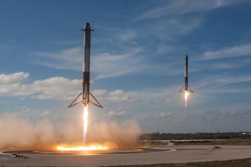 Roket SpaceX. (Foto: Unsplash)