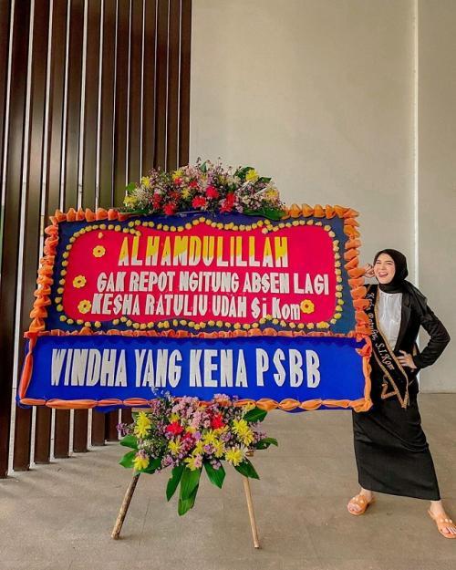 Kesha Ratuliu lulus. (Foto: Instagram/@kesharatuliu05)