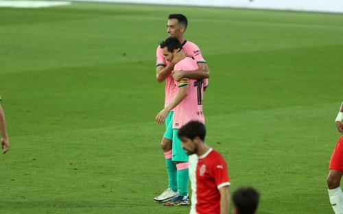 Lionel Messi cetak gol ke gawang Girona (Foto: Barcelona)