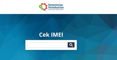 Laman cek IMEI di situs Kemenperin. (Foto: Kemenperin.go.id)